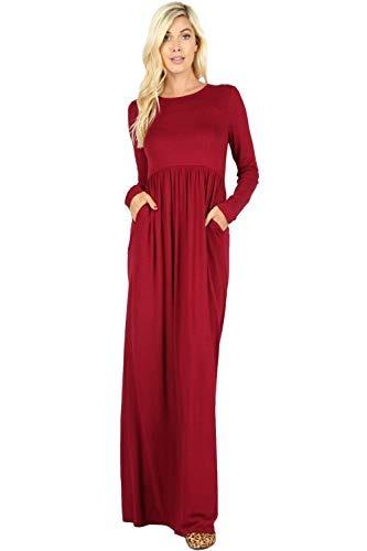 a5115ab6e Vestidos Largos Para Mujer Solido Ligero