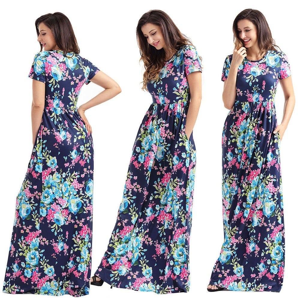 4d8e02da5 vestidos largos tallas extras plus floreados moda casual. Cargando zoom.