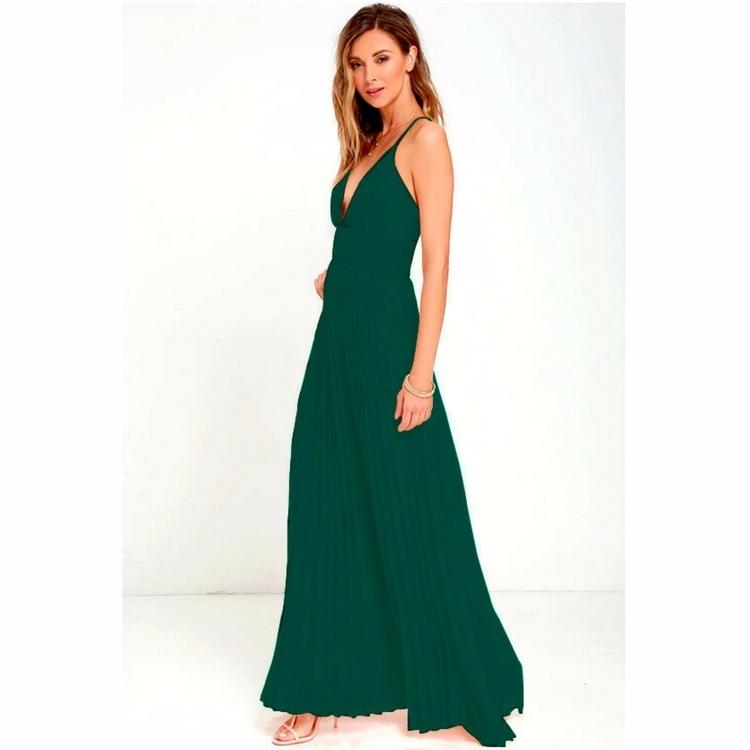 d319d4a4be Vestidos Longo Femininos Festa Madrinha Basico Decote V Ref3 - R ...