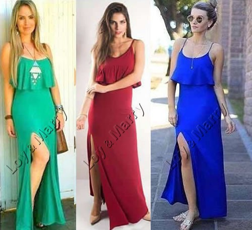 e33cca0559 vestidos longos casuais c  fenda roupas femininas s renda · vestidos longos  casuais roupas