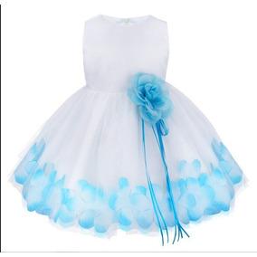 62c9b974c3479 Vestido Batizado Festa Bebê Daminha Branco Laço Tiffany 14
