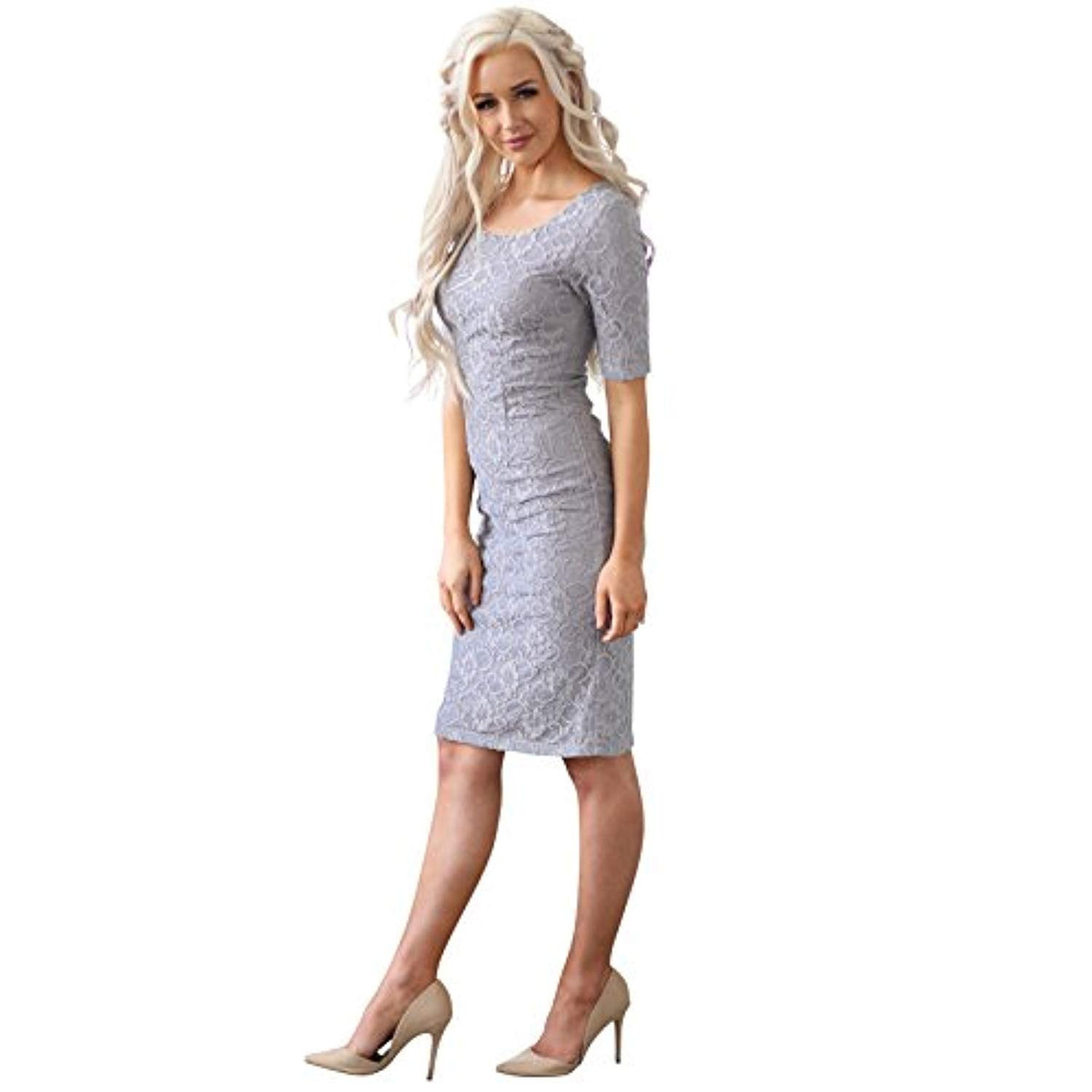 221f2cc6b6c9a Vestidos Mikarose June Modest Pencil Dress In Lace - $ 397.533 en Mercado  Libre