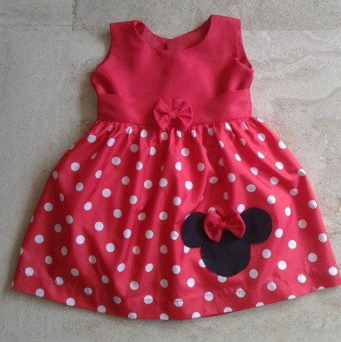 Vestidos Minnie Y De Fiesta Para Niñas Talla 1 Niña1 Año