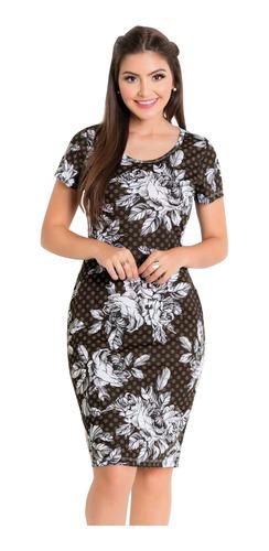 vestidos moda evangélica kit com 2 tubinho midi blogueira