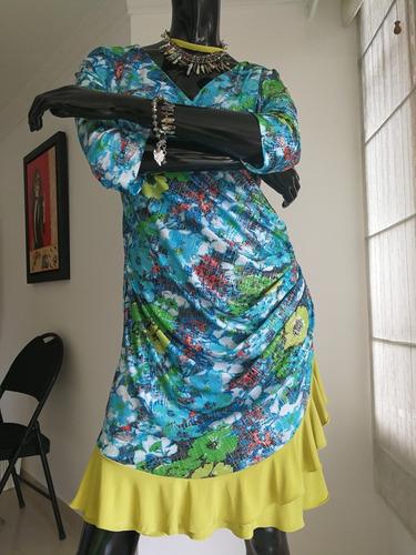 vestidos mujer drapeado cortos estampado linda ropa mujer