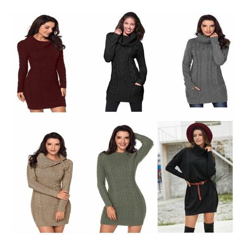 vestidos mujer invierno varios colores
