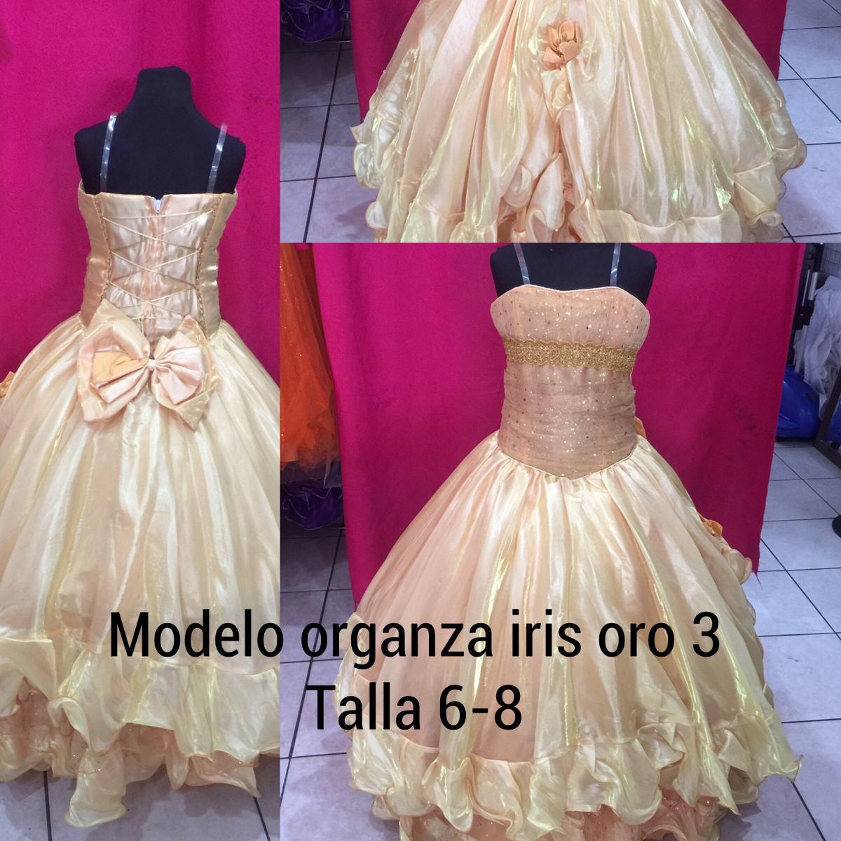 Vistoso Niñas Vestidos De Fiesta De Oro Embellecimiento - Colección ...