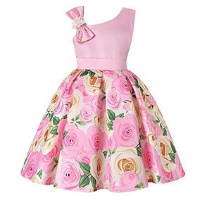 Vestidos Niñas Rosa Muy Bonito Elegante