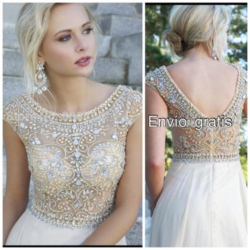 vestidos noche elegante pedrería sexy nuevos