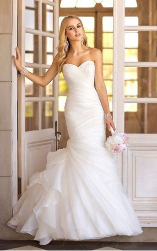 vestidos novia barato nuevo playa sirena ivory blanco mod103