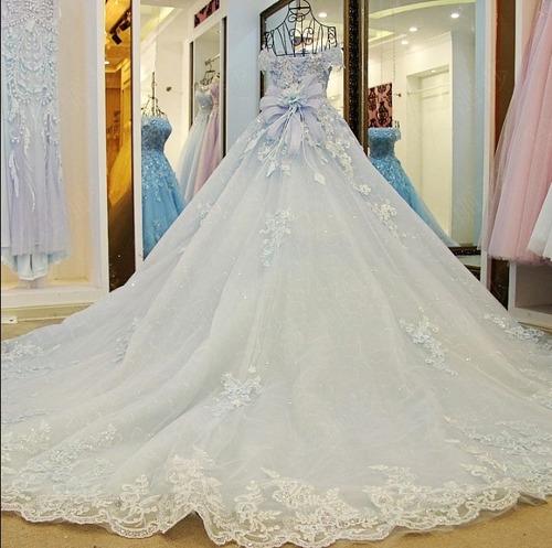 vestidos novia barato nuevo xv 15 años azul blanco oferta wa