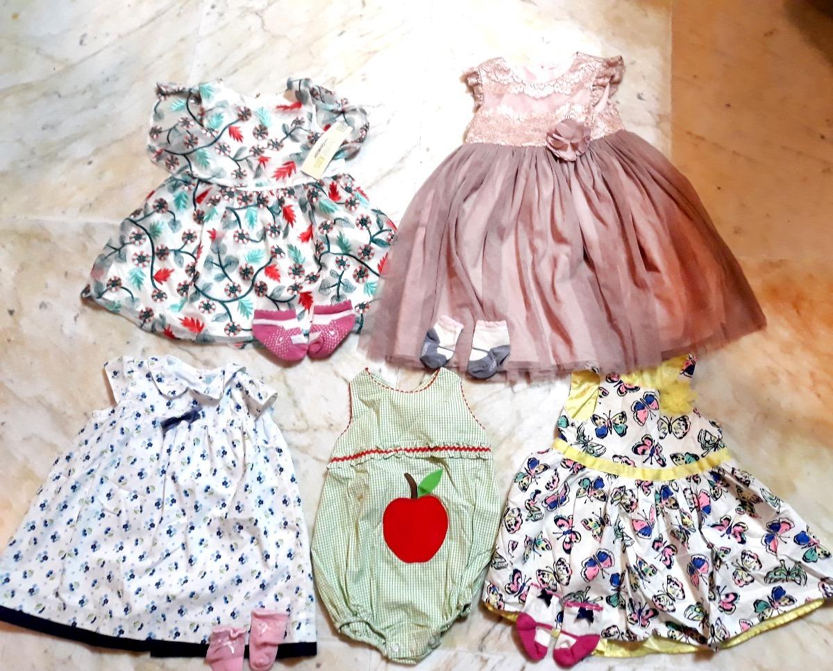 fe4c4df36 Vestidos Para Bebé 6 A 8 Meses En Paquete -   820.00 en Mercado Libre