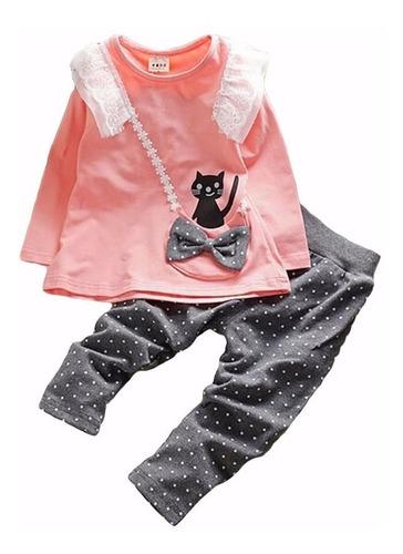 vestidos para bebé niña - conjuntos bebitas - gato ropa