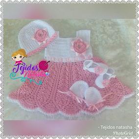 Vestidos Para Bebés Tejidos Diferente Precios