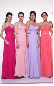 5f6f46a510a Vestido Damas Honor Rosa Palo Barato - Recuerdos, Cotillón y Fiestas ...
