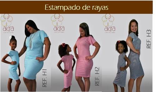 vestidos para damas y niñas