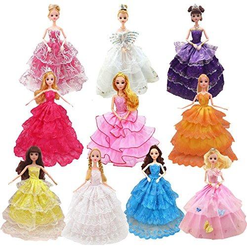 Vestidos Para Muñeca Barbie 8 Pcs Handmade Fashion Princess