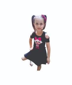 7034dd46c Vestido De Modal Con Escote En Aguayo - Vestidos para Niñas Negro en ...