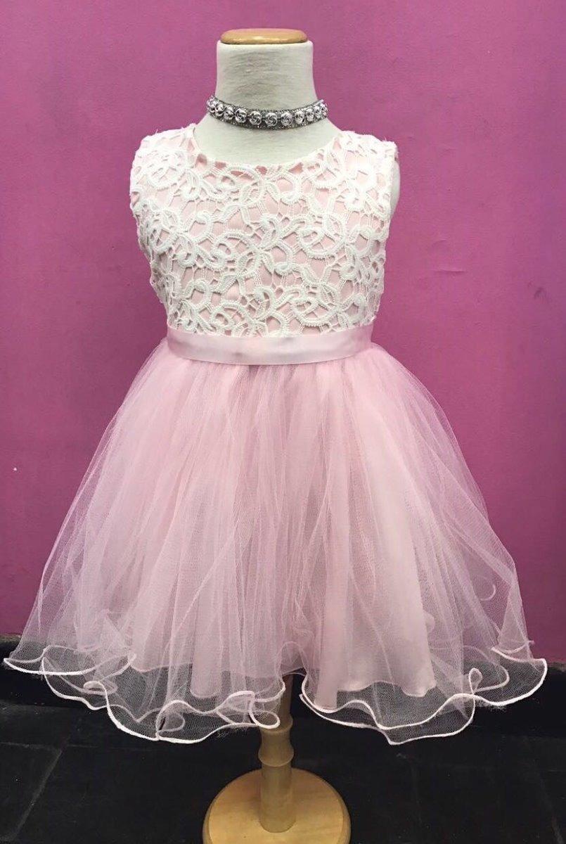 Vestidos Para Nenas En Encaje Y Tul, Varios Colores - $ 770,00 en ...