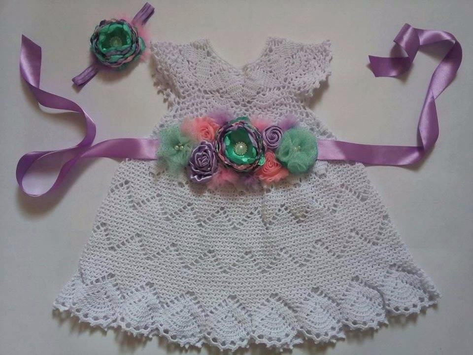 c24c25e1d Vestidos Para Niña Y Bebe Tejidos A Crochet - Bs. 5,60 en Mercado Libre