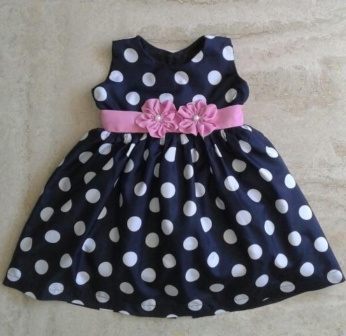 5e9ef4f99 Vestidos Para Niñas Bebé Minnie Pepa Flores Talla 6-12 Meses - Bs ...
