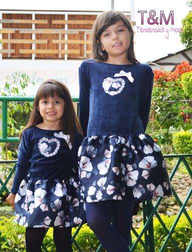vestidos para niñas elegantes en terciopelo