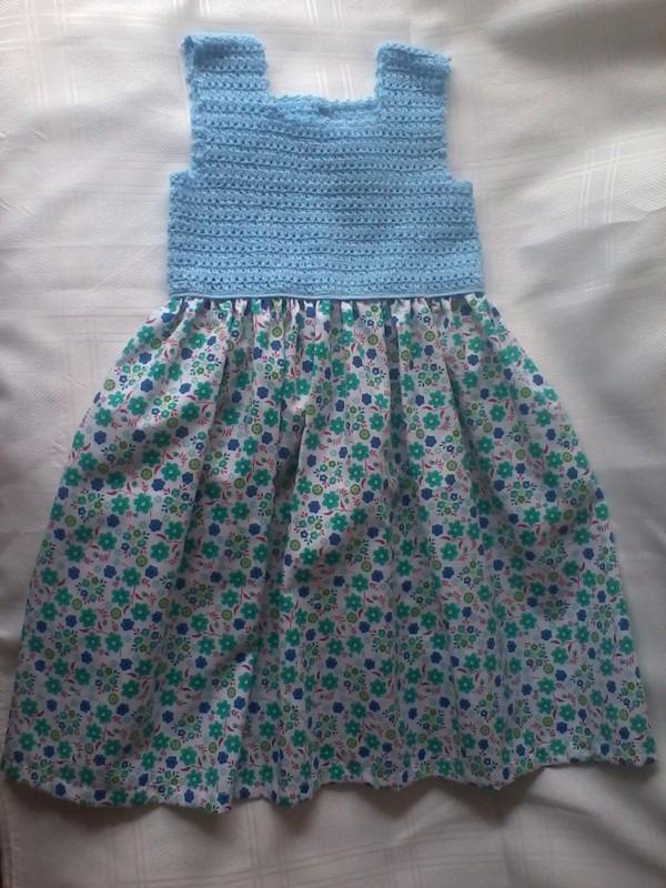 vestidos para ni as en crochet bs en mercado libre. Black Bedroom Furniture Sets. Home Design Ideas