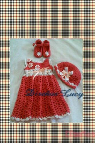 vestidos para niñas tejidos a crochet