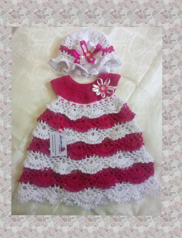 535d9a99c Vestidos Para Niñas Tejidos A Crochet - Bs. 87.000,00 en Mercado Libre