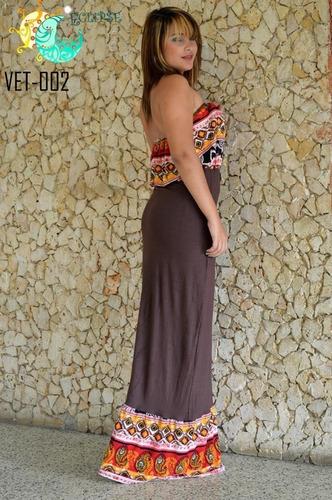 vestidos pareos casuales  playeros cortos largos damas niñas