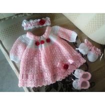 Vestidos Tejidos 100% A Mano De Bebé Crochet (mayor Y Detal)