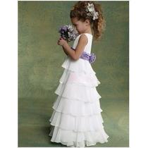 Vestido Niña Bautizo Matrimonio Promocion Importado 2/4