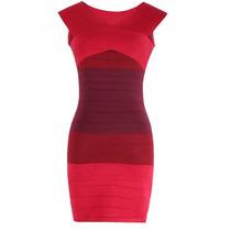 Vestido Rojo Bodycon Tejido Hilo Entallado Importado
