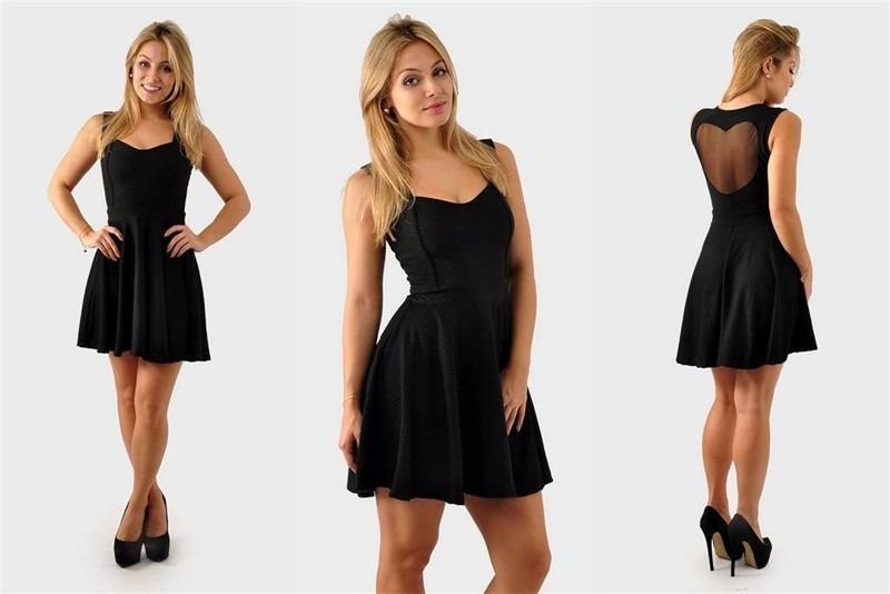 vestidos simples preto