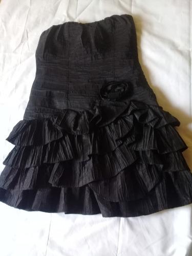 vestidos strapless cortos