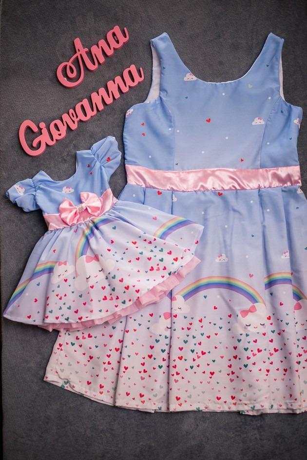 Vestidos Tal M 227 E Tal Filha Chuva De Amor R 330 00 Em Mercado Livre