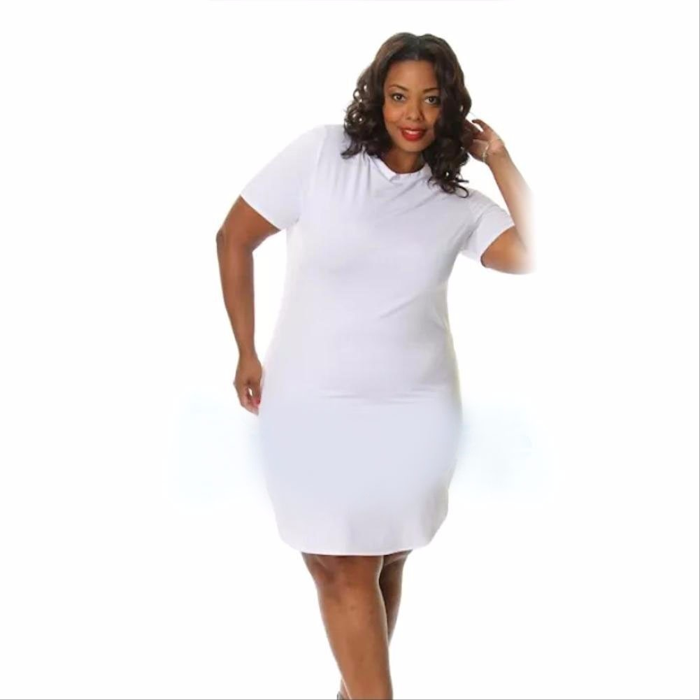 961d6ee335 vestidos talla extra blusa larga blanco bella figura vestido. Cargando zoom.