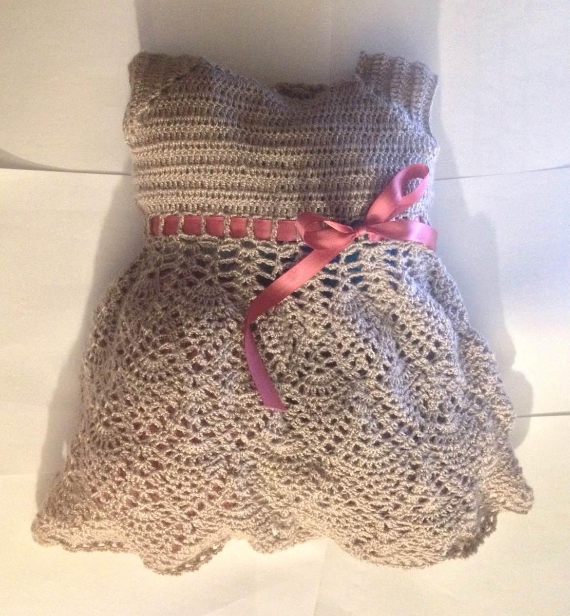 5696f131b Vestidos Tejido A Crochet P/niña Hasta 9 Meses - Bs. 4,50 en Mercado ...