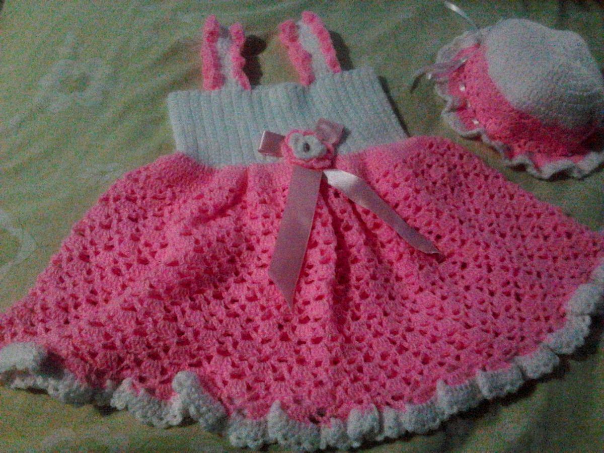 ff41c48aa Vestidos Tejidos 100% A Mano De Bebé Crochet (mayor Y Detal) - Bs ...