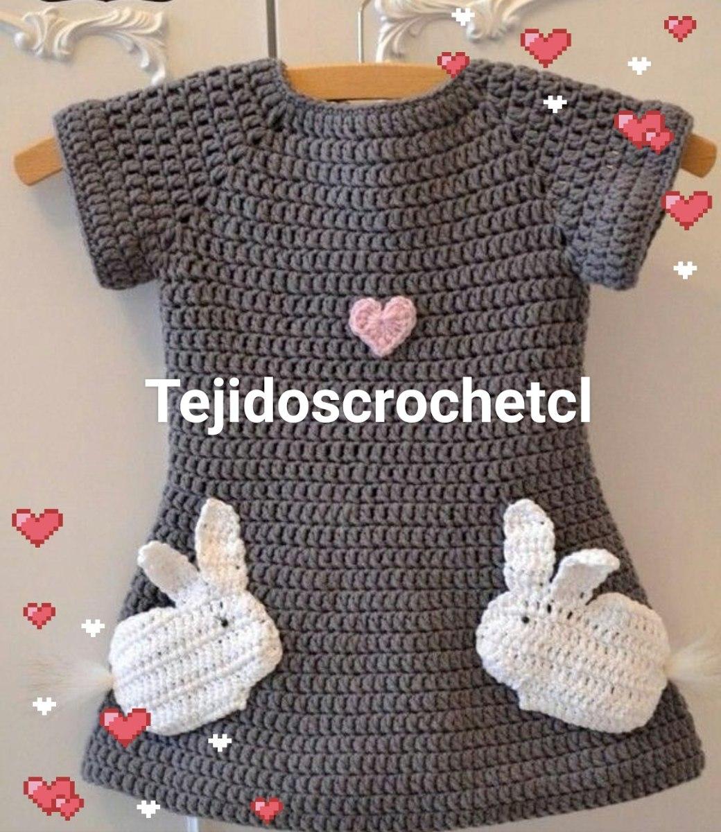 6ae02050a Vestidos Tejidos A Crochet Para Bebes Y Niñas - $ 11.500 en Mercado ...