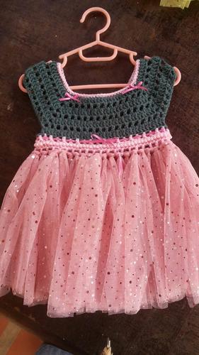 vestidos tejidos con falda de tul