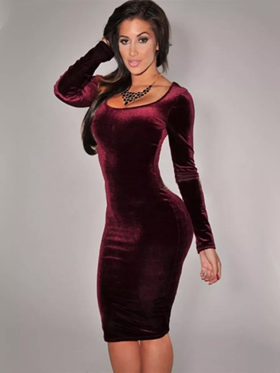 Vestidos Terciopelo Para Dama