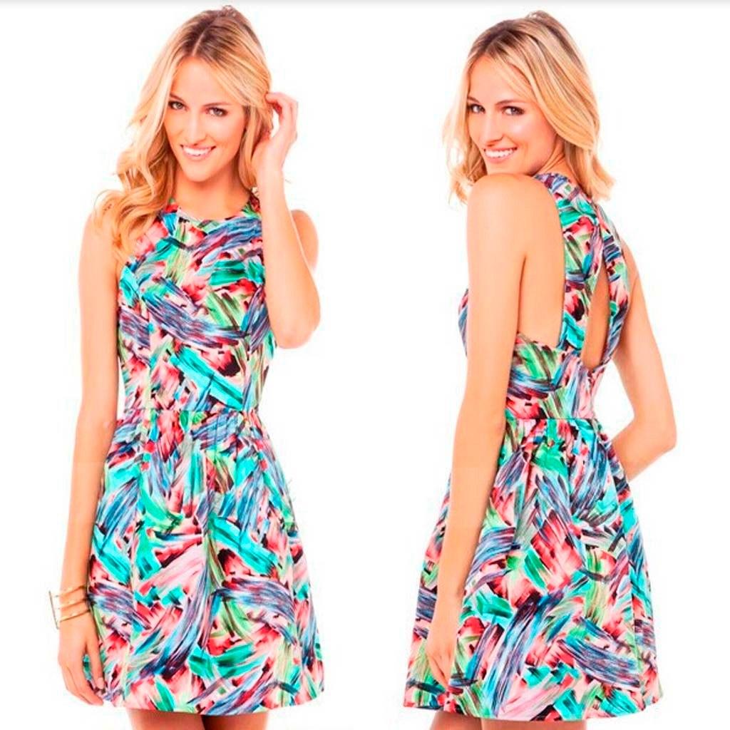 5f260923dd promocao vestidos basicos vestido estampado curto verao. Carregando zoom.