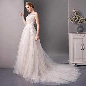 Vestidos Vestido Novia Barato Nuevo Linea A Ivory Blanco Sul
