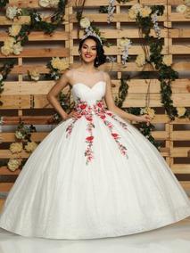 Vestidos De Xv Blanco Con Morado Nueva Moda Mundial 2019