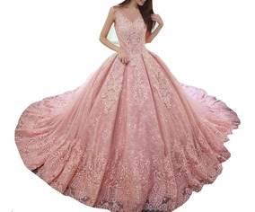 Vestido Xv Años Color Rosa Viejo Vestidos De Mujer