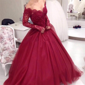 Vestido Para Xv Anos Y Vestidos De Mujer De 15 Largo Rojo