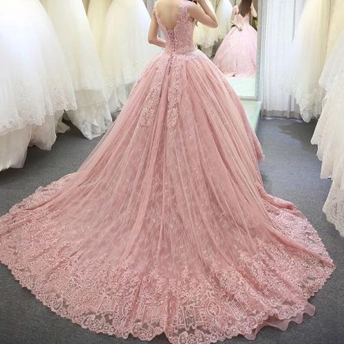 vestidos xv años quinceaños 15 años rosa rosado buen fin
