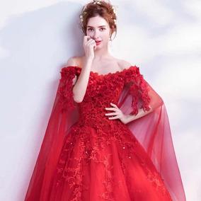 Vestidos Xv Años Quinceaños 15 Años Vestido Xv Nuevo Rojo Wa
