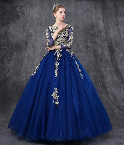 vestidos xv años quinceaños 15 azul dorado rosa buen fin